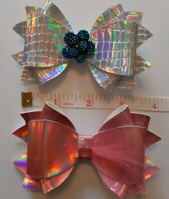 "AMELIA , 4"" Hair  Bow Template Make Your Own Glitter fabric Bows"