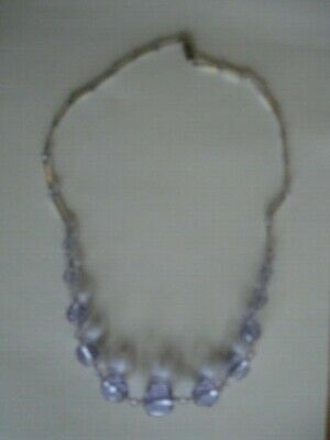 Vintage Art Deco Pale Lilac Crystal Bea Necklace