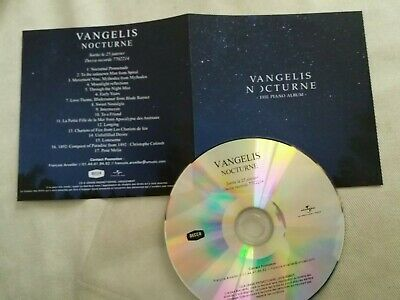 Vangelis Cd Promo Album France  Nocturne   17 Tracks  Collector