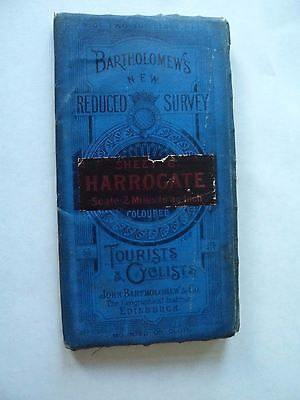 Barts Cloth Map as Ordnance Survey Harrogate 1911? Bradford Leeds Ripon Burnley