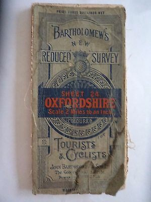 Barts Cloth Map as Ordnance Survey Oxford 1920 Stratford Blenheim Woodstock