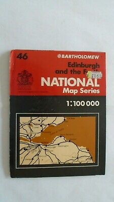 Barts Map as Ordnance Survey 1977 Edinburgh, Firth of Forth, Berwick, Glenrothes
