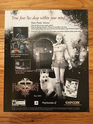 Haunting Ground PS2 Video Game Poster Ad Advertisement Art Print Rare Horror