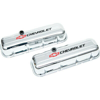 Camaro Valve Covers, Big Block, Tall Design, Chrome, With Baffle, Chevrolet