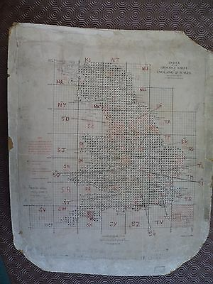 Ordnance Survey Index 25k maps 2 sides  Exeter Sudbury Nottingham Grimsby Hexham