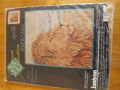 Vintage Janlynn Lion King of the Beast Cross Stitch Kit Platinum Collection USA