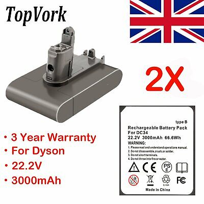 2X 22.2V 3.0Ah Type B Vacuum Cleaner Battery For Dyson DC31 DC34 DC35 Animal