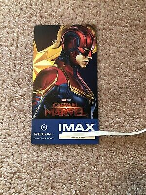 Captain Marvel Collectible #886 of 1000 Week 2 Regal IMAX Ticket Brie Larson