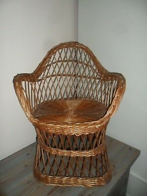 Vintage cane chair for a small child or your favourite Teddy or doll..