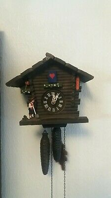Vintage Black Forest Cuckoo Clock - Chalet Style