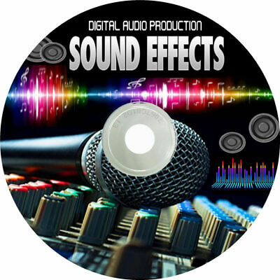 AUDIO SOUND EFFECTS LIBRARY OVER 6500 on DVD - ROYALTY FREE - MP3