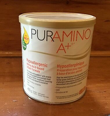 "Puramino A+ 400g. One Can.  Infants Formula Baby Powder  ""Milk"" EXP 12/1/2019"