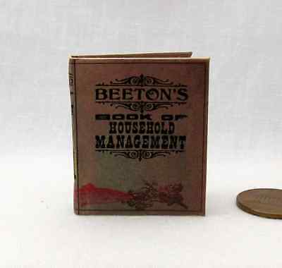 MRS. BEETON'S BOOK OF HOUSEHOLD MANAGEMENT 1:6 Scale book Victorian book