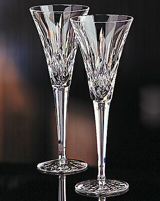 New with box   Waterford Crystal Lismore Toasting Flutes, Set of 2