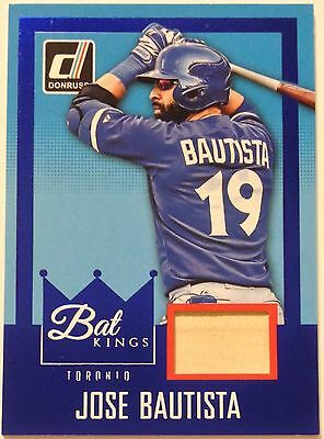 2016 DONRUSS BAT KINGS *BLUE* ~ JOSE BAUTISTA  Toronto Blue Jays