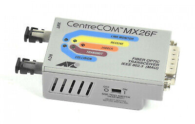 Allied Telesyn CentreCOM MX26F,AT-MX26F,Fiber Optic Transceiver