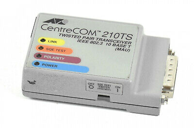 Allied Telesyn CentreCOM 210TS,AT-210TS,Twisted Pair Transceiver