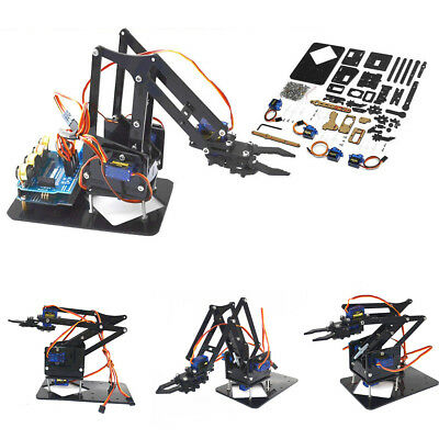 EG_ AU_ 4DOF DIY Assembled Mechanical Claw Robotic Robot Arm Manipulator with Se