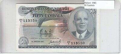 Malawi 50 Tambala 1983 AU Almost Uncirculated