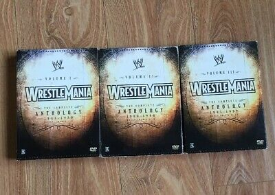 WWF WWE Wrestlemania DVD Anthology 1985-1999 Vol. 1, 2, 3 OUT OF PRINT!