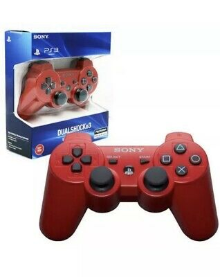 Sony Ps3 Controller Official Dual Shock 3 Gaming Pad 🇬🇧UK Red Genuine Wireless