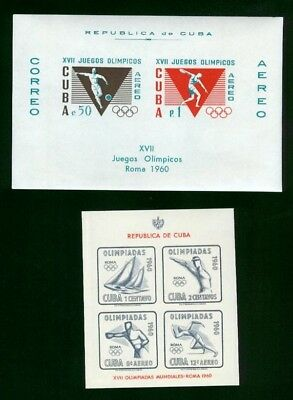 1960 Cbua Unauthorized Olympics Issue, Lux Materiale Filatelico of Milan MNH