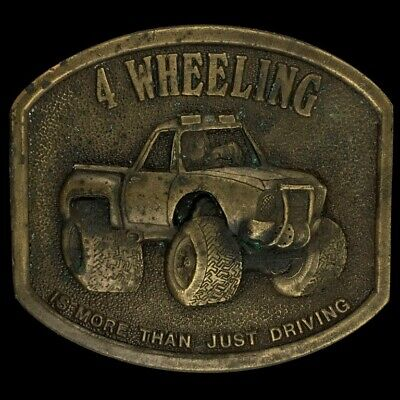 Vtg 70s 4 Wheeling 4 X 4 Off-Road Lifted Truck Jeep Mudding Muddin Belt Buckle