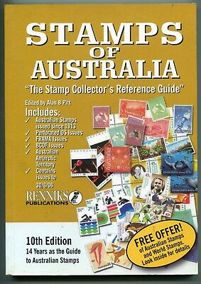 STAMPS OF AUSTRALIA - Renniks Pubblication - 10th Edition - 216 pages in colour