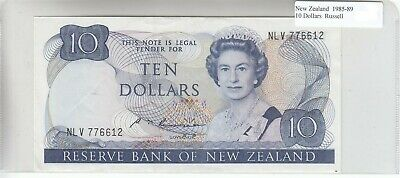 New Zealand 10 Dollars 1985 AU Almost Uncirculated
