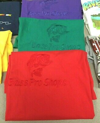 Lot Of 7 Vintage 90'S Fishing T Shirts Vtg Tees Bass Boat Large - Extra Large