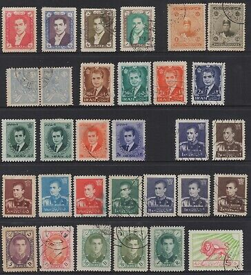 Persia Collection Of (31) Stamps Mint /Used.