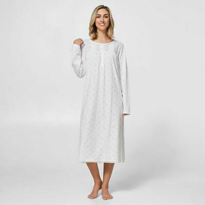 NEW Traditional Knit Nightie - White/Pink Floral