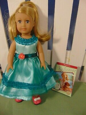 "AMERICAN GIRL Special Anniversary Edition MaryEllen Mini Doll 6"" w/mini book EUC"