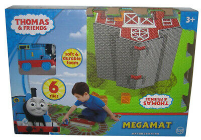 Thomas & Friends Mega Floor 6 Piece Playmat with Toy Train Vehicle