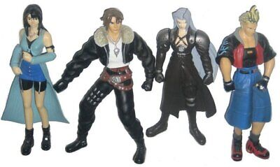 Final Fantasy VII & VIII Action Figure Lot - (Sephiroth / Squall / Rinoa / Zell)