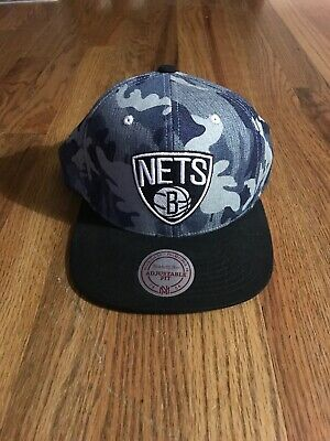 the latest 36647 84ba6 Brooklyn Nets Mitchell And Ness Snapback Hat Preowned NBA