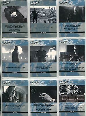 James Bond Autographs & Relics Complete Quotable Skyfall Chase Card Set (21) -NM