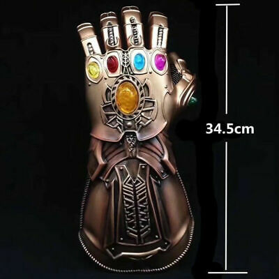 Avengers Infinity War Infinity Gauntlet LED Light Thanos Gloves Cosplay Prop