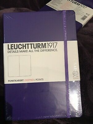 New Sealed Purple Leuchtturm1917 Hard Cover Medium A5 Dotted Notebook/Journal