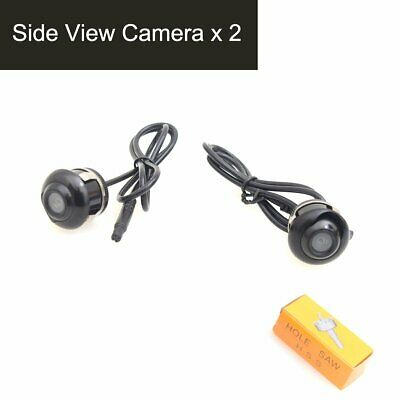 Auto Car Flush Mount Housing Rear View Backup Camera 28mm Hole Saw Drilling 170°