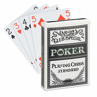 Professional Poker Playing Card Set, Impermeable Plastic Deck, Pack of 54