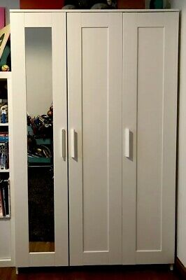 With Brimnes Doors Ikea Wardrobe Mirror White 3 zpVUGqMS