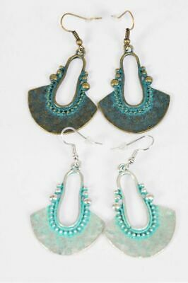 Ancient Aztec Style Patina Earrings Hook
