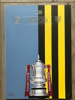 FA CUP FINAL PROGRAMME 2019 Manchester City v Watford