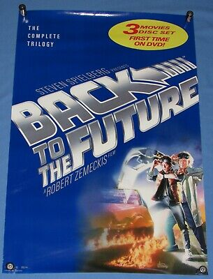 """Back To The Future Trilogy 3 Movie 2 Disc Dvd Set Promotional Poster 27""""x40"""""""