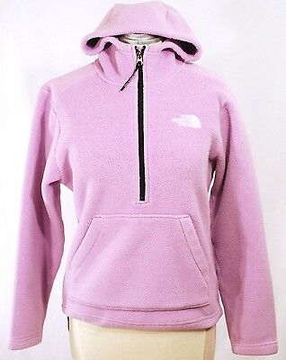 The North Face TNF ½ Zip Pink Pullover Hoodie Polartec Fleece | sz XS