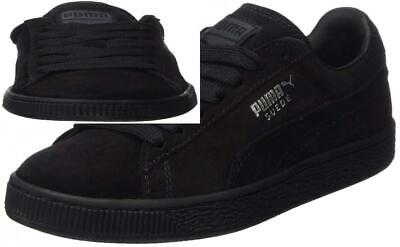 f8dfd1a0ed PUMA SUEDE CLASSIC Noir Blanche Baskets Homme Black White Sneakers ...
