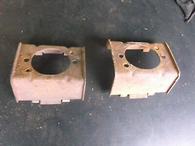 1962 1963 Ford Falcon front bumper marker signal light brackets 62 63