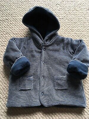 Baby boy girl blue stripy jacket 3-6 months Perfect conditiom Offers welcome