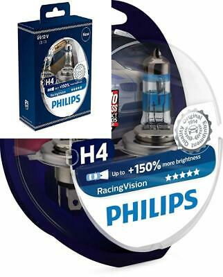 Philips RacingVision + 150% Ampoule Phare H4 12342RVS2, Bleu, Set de Twin box